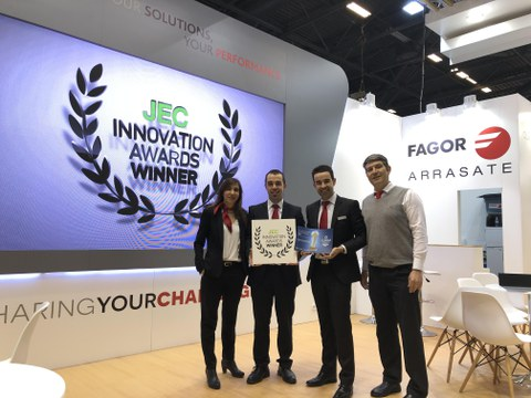 Fagor Arrasate wins the JEC World Innovation award in the category of industry and equipment