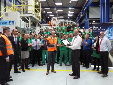 FPK  receives the JLR Q award from Jaguar Land Rover