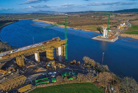 ULMA Construction takes part in the construction of New Ross bridge, the longest bridge of its kind in the world