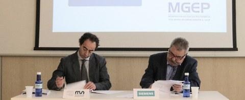 Acuerdo de colaboración entre Mondragon Unibertsitatea y Siemens