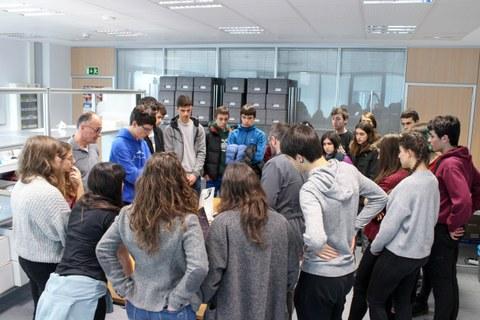 Alumnos de bachillerato visitan Garaia