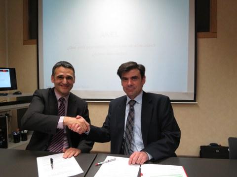 ANEL y MONDRAGON Internacional firman un acuerdo para impulsar la internacionalización de las empresas navarras