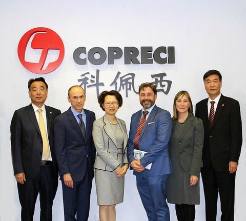 Autoridades de Kunshan visitan Corporación MONDRAGON y Copreci