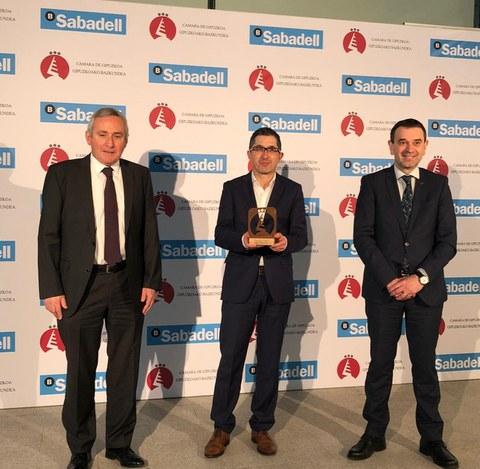 """Basque Culinary recibe el premio a la """"Empresa de Servicios"""" de la  Cámara de Gipuzkoa"""