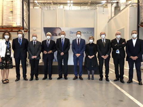 Bexen Medical inaugura su nueva planta de producción de mascarillas en Etxebarria