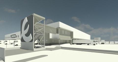 Buen ritmo en las obras de la nueva plataforma logística de EROSKI en Vitoria
