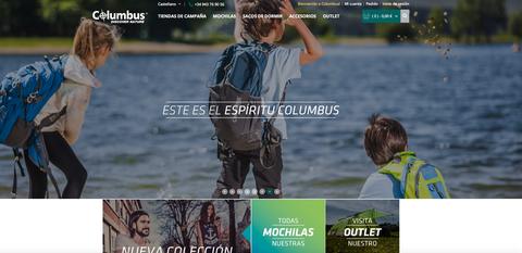 Columbus presenta su nuevo sitio web y tienda on-line