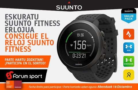 Consigue el reloj-pulsómetro SUUNTO fitness, diseñado para entrenar