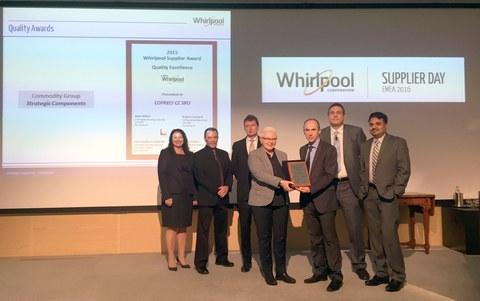 Copreci recibe de Whirlpool el premio a la Excelencia en Calidad