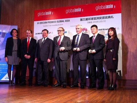 DANOBATGROUP galardonado con el premio Empresa 2014 en la III Edición de los Premios Global Asia