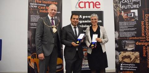 """Edertek, galardonado con la British Foundry Medal 2016 por el """"Institute of Cast Metal Engineers"""""""
