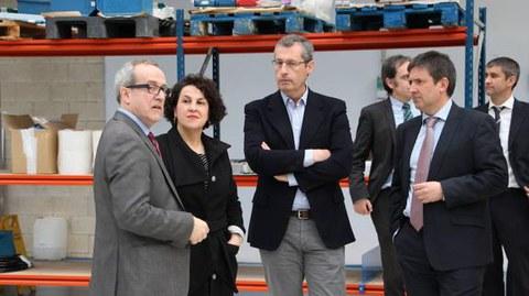 El diputado general de Gipuzkoa visita las instalaciones de ULMA