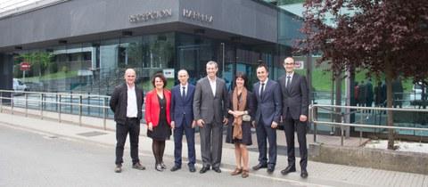 El diputado general y la diputada de Promoción Económica de Gipuzkoa visitan Copreci