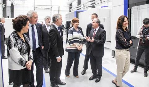 El lehendakari inaugura el nodo de digitalización y rectificado industrial de Euskadi