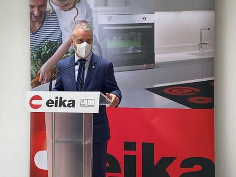 El Lehendakari Iñigo Urkullu visita Eika