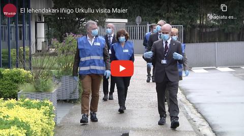 """El lehendakari Urkullu visita Maier, que exporta viseras """"Made in Euskadi"""" a todo el Estado"""