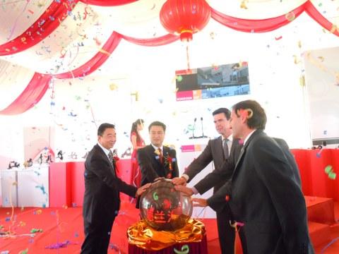Inauguradas las plantas de Fagor Ederlan y Cikautxo en el parque empresarial de MONDRAGON en Kunshan
