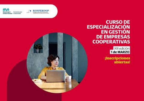 En marzo comenzará la 13 edición del Curso de Especialización en Gestión de Empresas Cooperativas