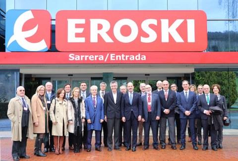 Encuentro interinstitucional en EROSKI