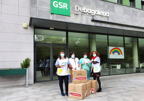 EROSKI dona 10.000 mascarillas a GSR