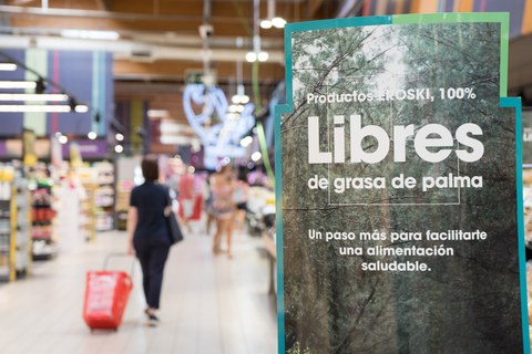 Eroski elimina la grasa de palma del 100% de sus productos de marca propia