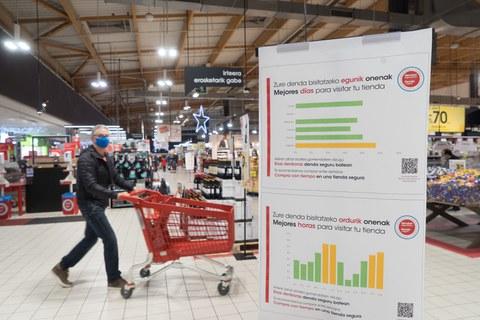 Eroski habilita un sistema de información de afluencia a sus tiendas por franjas horarias de cara a las compras navideñas
