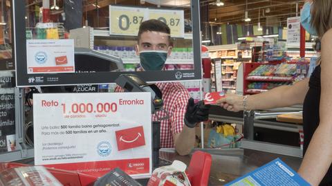 "EROSKI lanza el reto ""Un millón de comidas para alimentar a 500 familias"""
