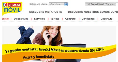 Eroski móvil abre su tienda online