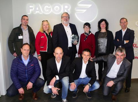 Fagor Arrasate reconoce a Sercame como mejor proveedor del año