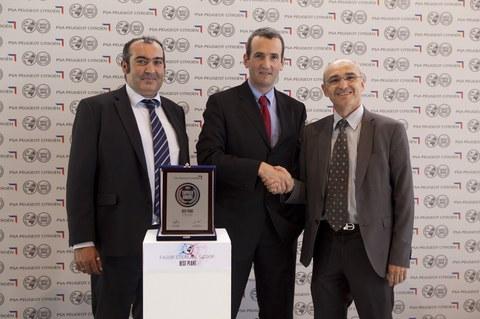 Fagor Ederlan recibe de PSA Peugeot Citroën el premio `best plant´ a la excelencia industrial 2015