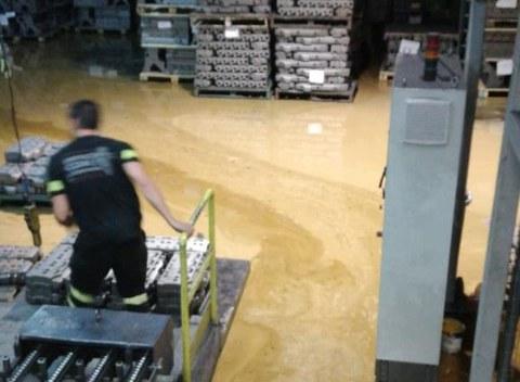 Fagor Ederlan Tafalla reanuda la actividad tras las inundaciones