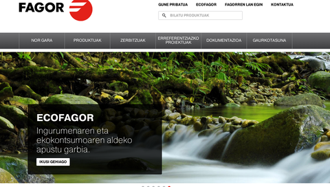 """Fagor Industrial, finalista de los """"Premios diariovasco.com 2014"""" como mejor web corporativa"""