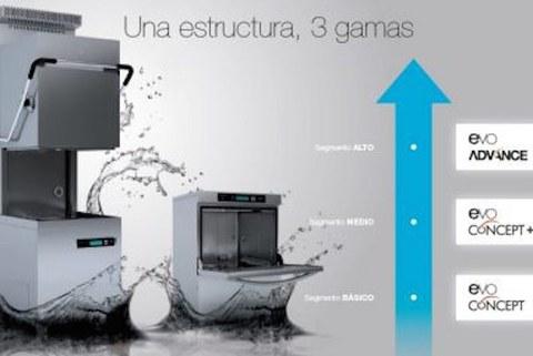 Fagor Industrial presenta su nueva generación E-VO de lavado de vajilla