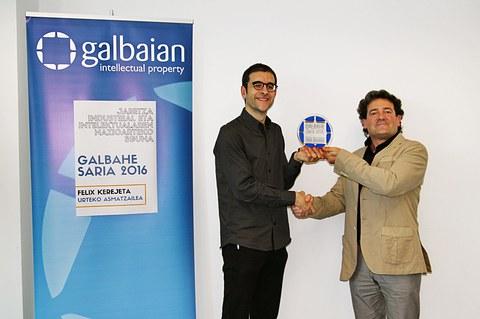 Felix Kerejeta recibe el Premio GALBAHE al inventor del año