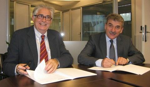 Firma del acuerdo de colaboración entre Saiolan y Orkestra
