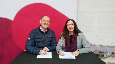 Goiener y la Facultad de Humanidades y Ciencias de la Educación firman un acuerdo para la utilización de energía renovable