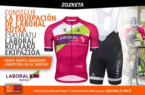 Hazte con la equipación ciclista de LABORAL Kutxa