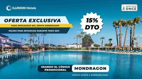 Ilunion Hotels activa una promoción para MONDRAGON
