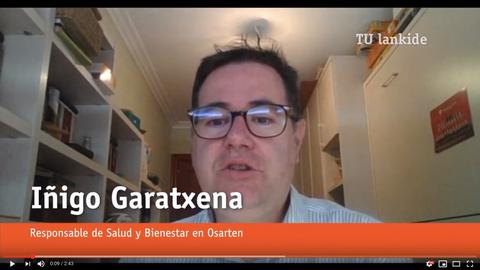 """Iñigo Garatxena, responsable de Salud y Bienestar de Osarten: """"Recomendamos seguir con las rutinas diarias"""""""