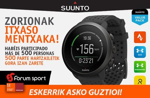 Itxaso Mentxaka se lleva el reloj-pulsómetro SUUNTO fitness sorteado por TU Lankide