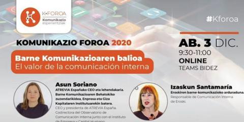 K-Foroa 2020 reflexiona sobre la comunicación interna