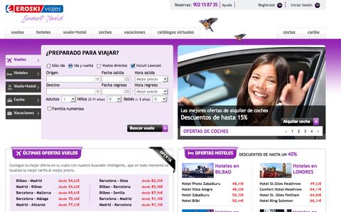 La nueva web de Viajes Eroski se acerca al cliente