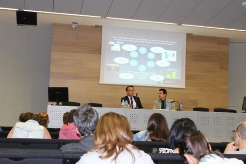 """La ponencia """"El futuro del emprendizaje digital en Europa"""" ofrecida por Blaz Golob suscitó gran interés"""