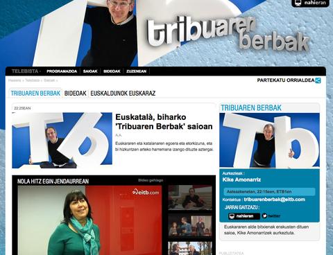 """LABORAL Kutxa patrocina """"Tribuaren Berbak"""", programa semanal en ETB1 sobre el euskera y la comunicación"""