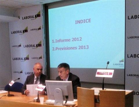 Laboral Kutxa pronostica que la economía vasca caerá un 1,3 % en 2013