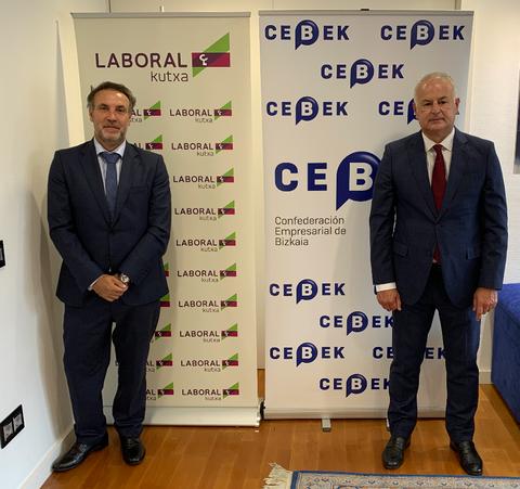 Laboral Kutxa y CEBEK renuevan su compromiso para revertir la situación generada por la Covid-19