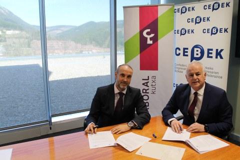 LABORAL Kutxa y CEBEK sellan una alianza para mejorar la competitividad de las pymes de Bizkaia