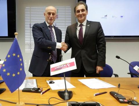 Laboral Kutxa y EIF firman un acuerdo de 100 millones de euros en beneficio de las empresas innovadoras
