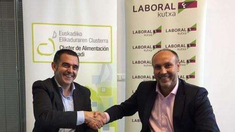 Laboral Kutxa y el Cluster de Alimentación firman un acuerdo de colaboración