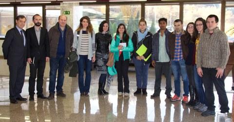 Las 8 personas que se forman en el programa TEP visitan la Corporación